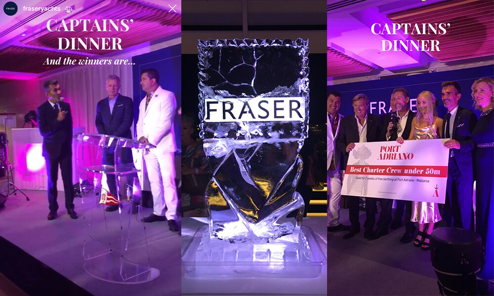 2019 MYS Fraser Yachts Captains Dinner