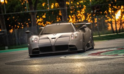 2020 Pagani Imola hypercar races around the Imola circuit track