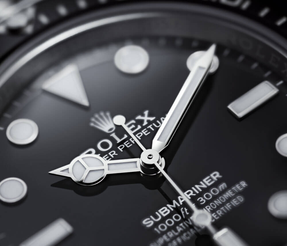 2020 Rolex Oyster Perpetual Submariner Close Up