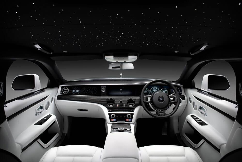 2021 Rolls-Royce Ghost Interior Front Skylight Roof