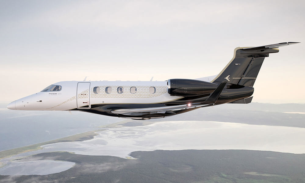 2020 Embraer Phenom 300E with Bossa Nova upgrade flying