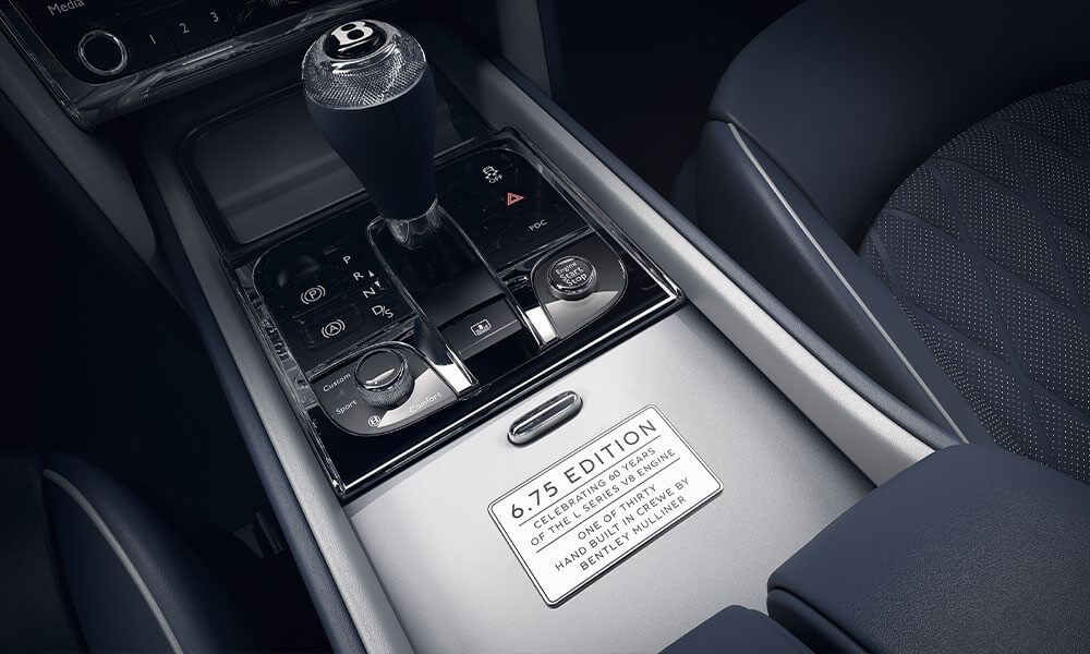 The 2020 Bentley Mulsanne 6.75 Mulliner Edition Limited Series Plaque