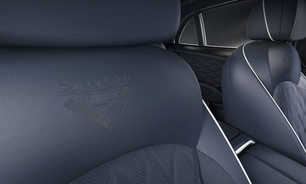 2020 Bentley Mulsanne 6.75 Mulliner Edition Seat Embroidery Stitching