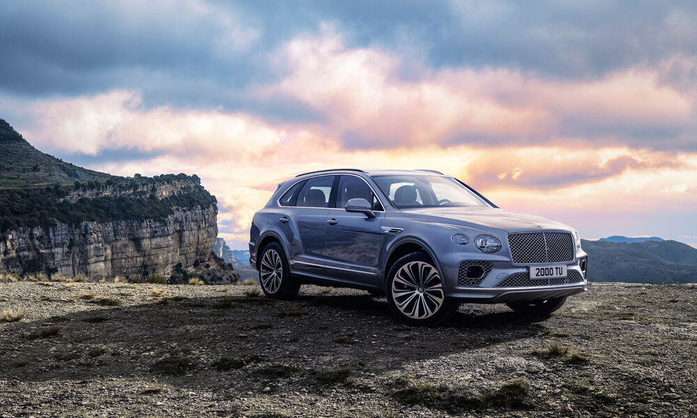 The new 2021 Bentley Bentayga with updated exterior styling elements. Credit: Bentley