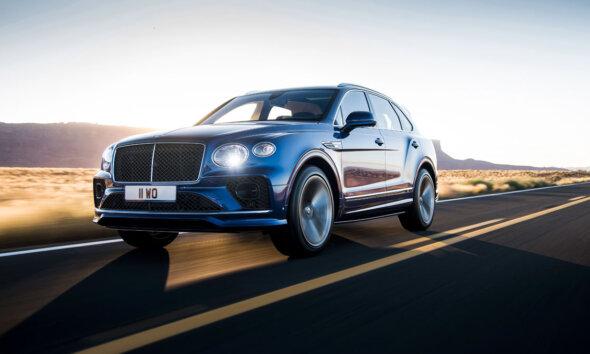 2021 Bentley Bentayga Speed Driving Front Side View