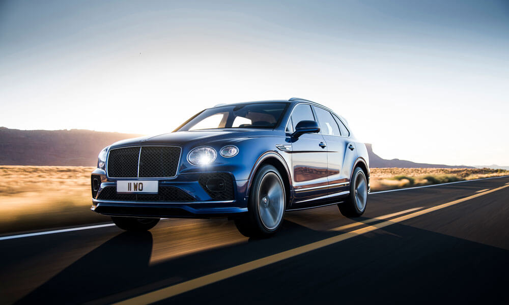 2021 Bentley Bentayga Speed Driving Front Side View