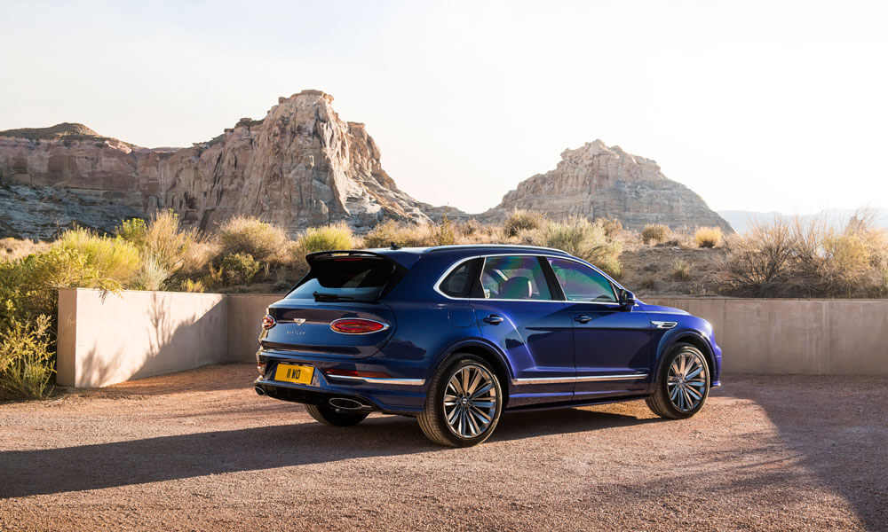 2021 Bentley Bentayga Speed Rear Side View