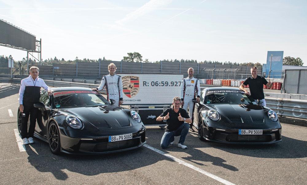 Seventeen seconds quicker than the previous generation 911 GT3. Credit: Porsche