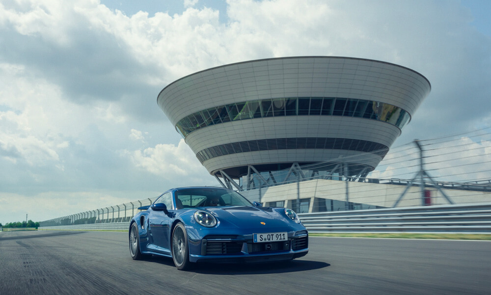 2021 Porsche 911 Turbo Front View Driving