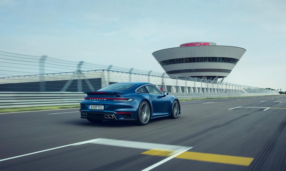 2021 Porsche 911 Turbo Rear Driving