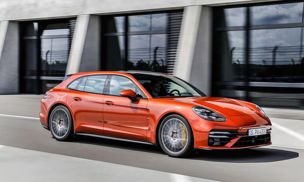 Panamera Turbo S Sport Turismo sedan with new styling elements. Credit: Porsche
