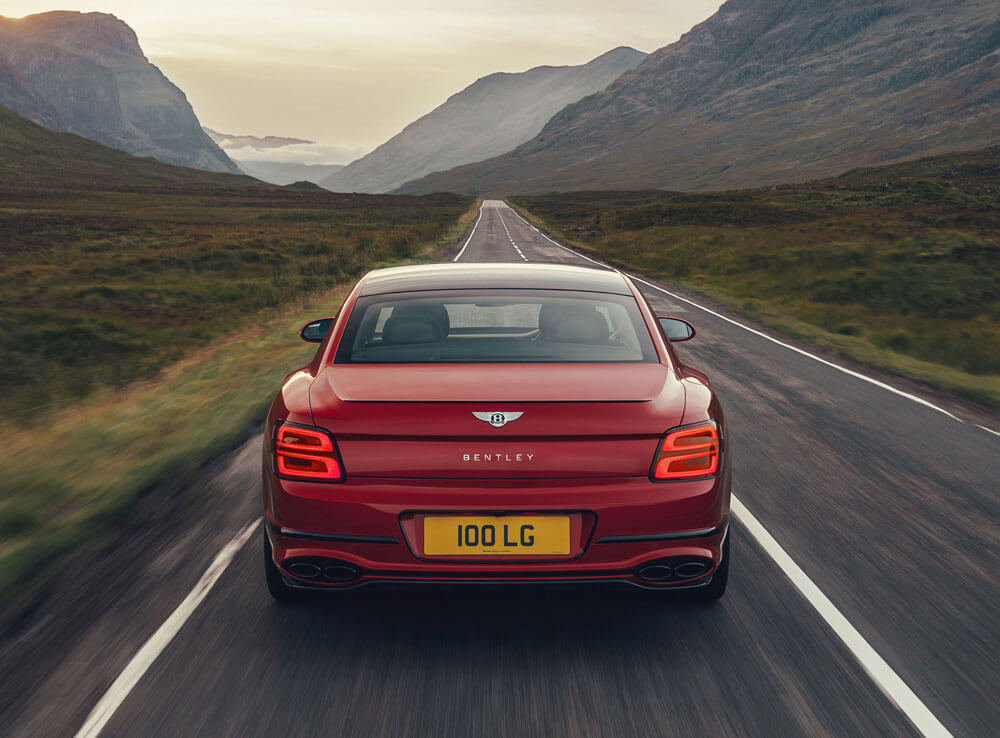 2021 Bentley Flying Spur V8 Rear View