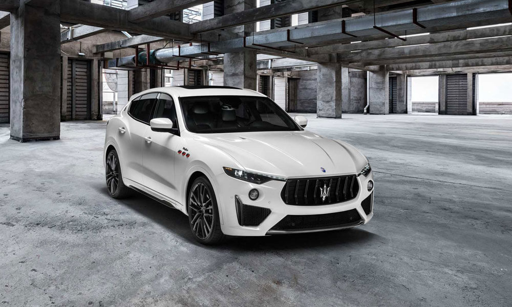 2021 Maserati Levante Trofeo White Rear View