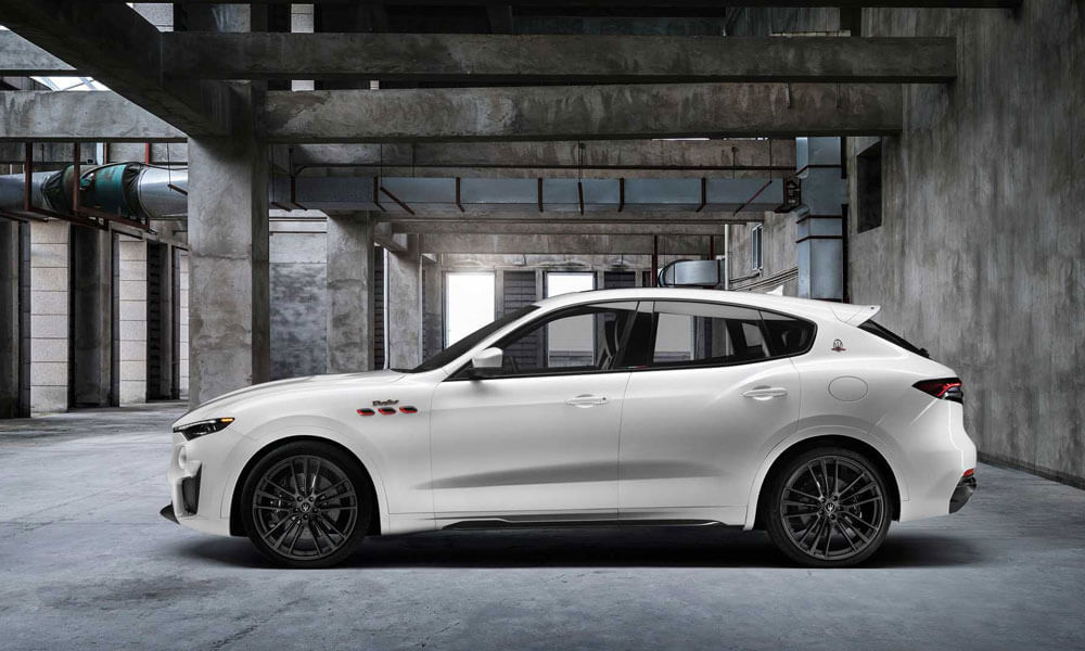 2021 Maserati Levante Trofeo White Side Profile