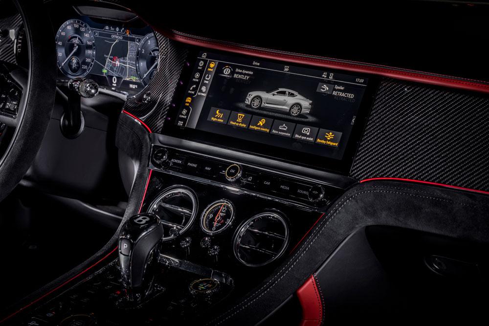 2022 Bentley Continental GT Speed Interior Detail Screen