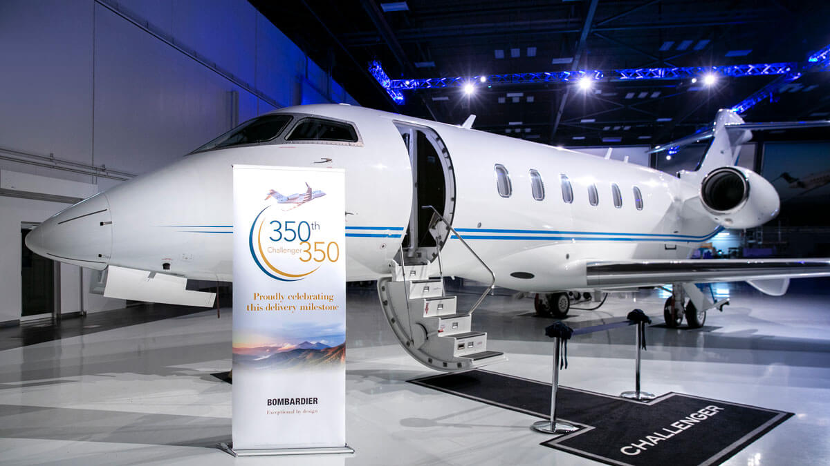 350th Bombardier Challenger 350 Private Jet