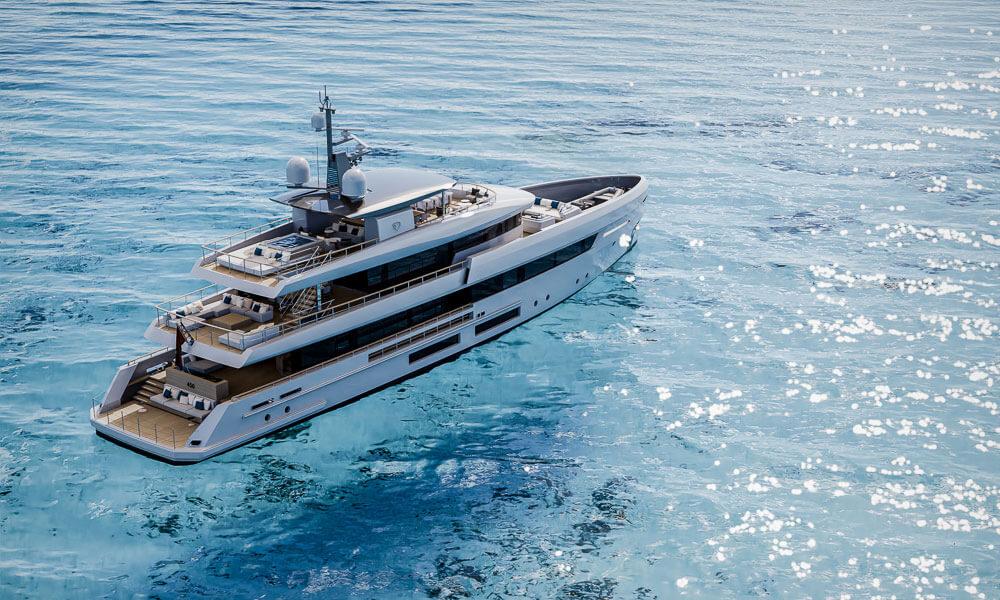 45m Tankoa T450 superyacht on clear water