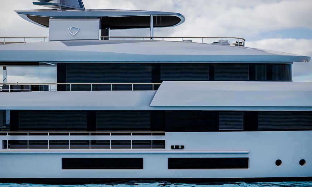 45m Tankoa T450 superyacht superstructure detail