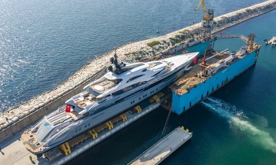 80 metre Bilgin Yachts 263 series superyacht Tatiana at launch Turkey