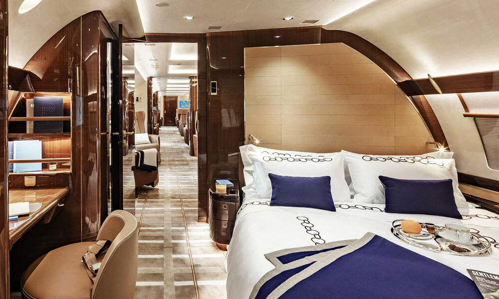 Wake up refreshed after a long-haul flight in the comfort of our own sky-bedroom. Credit: Alberto Pinto Design