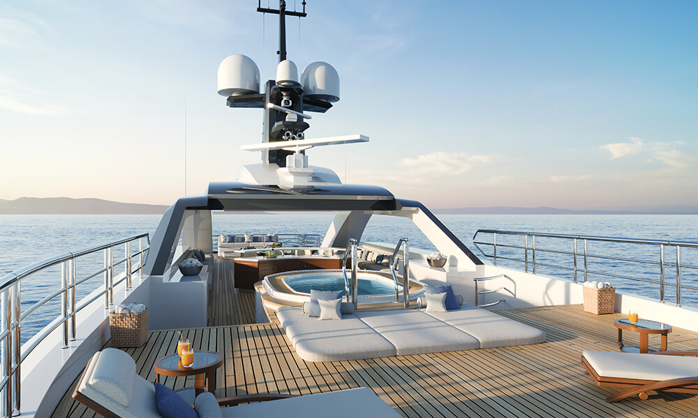 AMELS 60 Upper deck with Jacuzzi