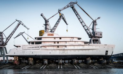 AMELS 78 metre full custom superyacht launch