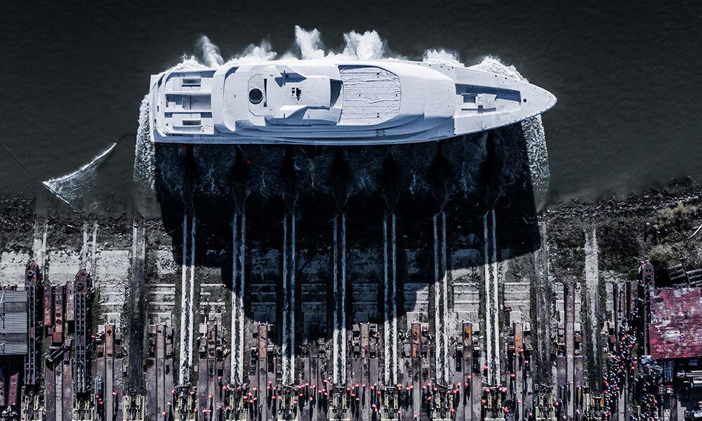 AMELS 78 metre full custom superyacht launch