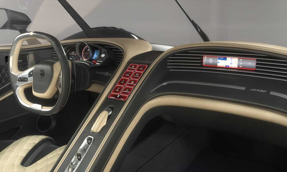 ARES Design S1 Project Supercar interior dashboard instruments