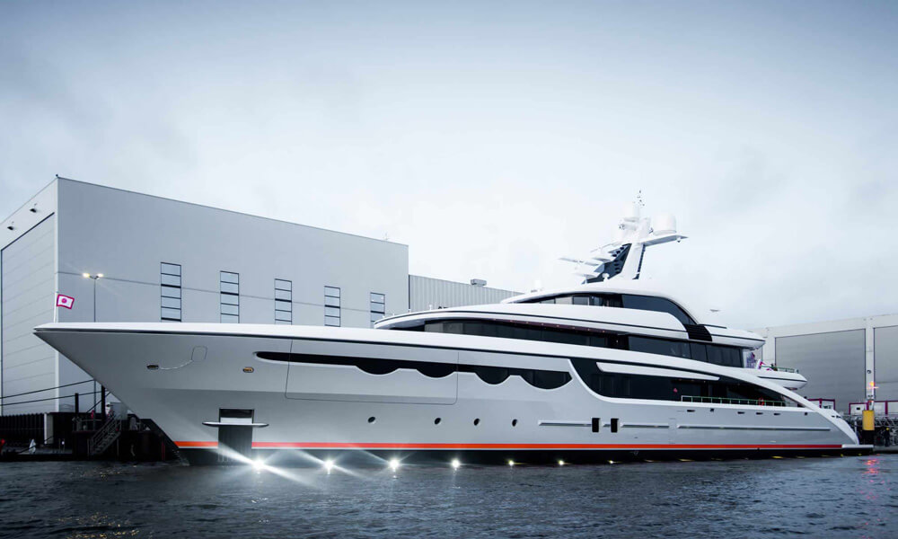 MY SOARING exterior and interior designed by Focus Yacht Design. Credit: Abeking & Rasmussen
