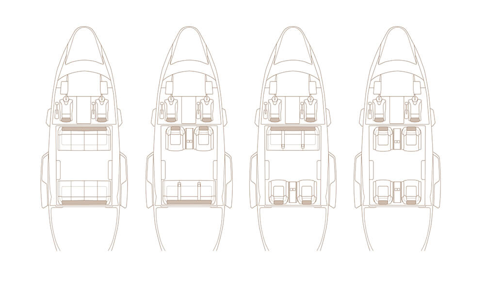 Airbus ACH160 Interior Layout Plan Options