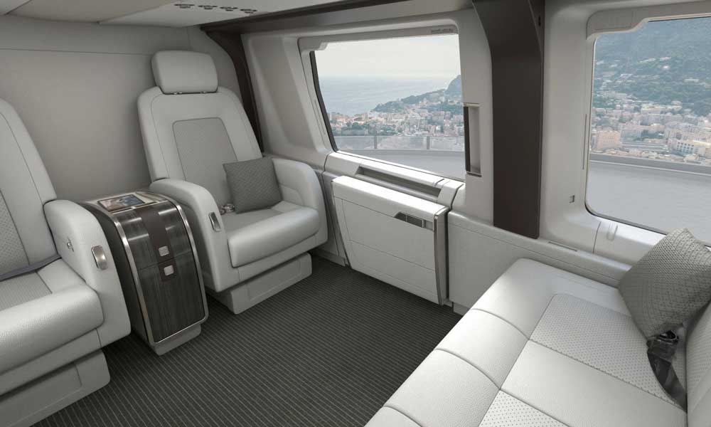 Airbus Corporate Helicopters ACH160 interior option concept
