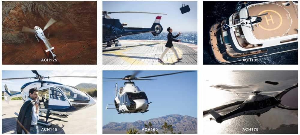Airbus Corporate Helicopters range of available models