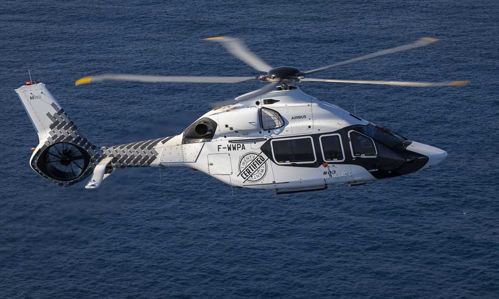 Airbus H160 twin engine helicopter certified by EASA 2020