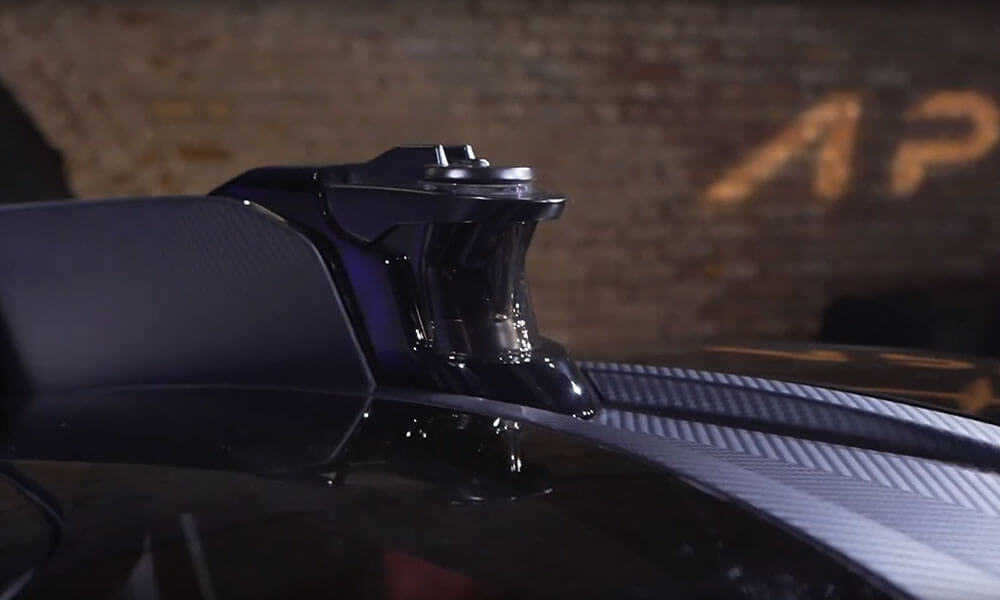 Apex AP-0 EV super sports car autonomous LiDAR system