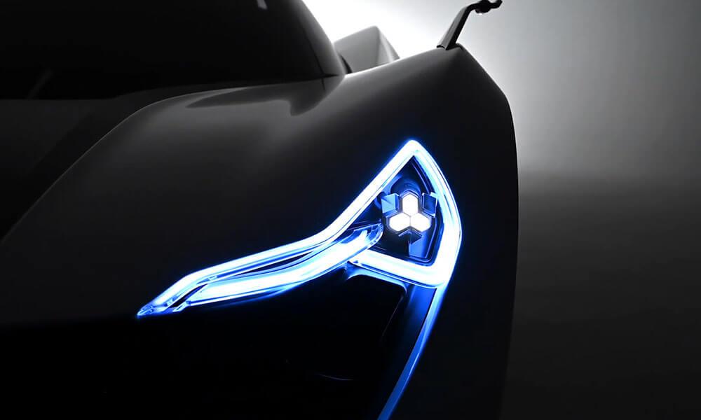 Apex AP-0 EV super sports car headlights
