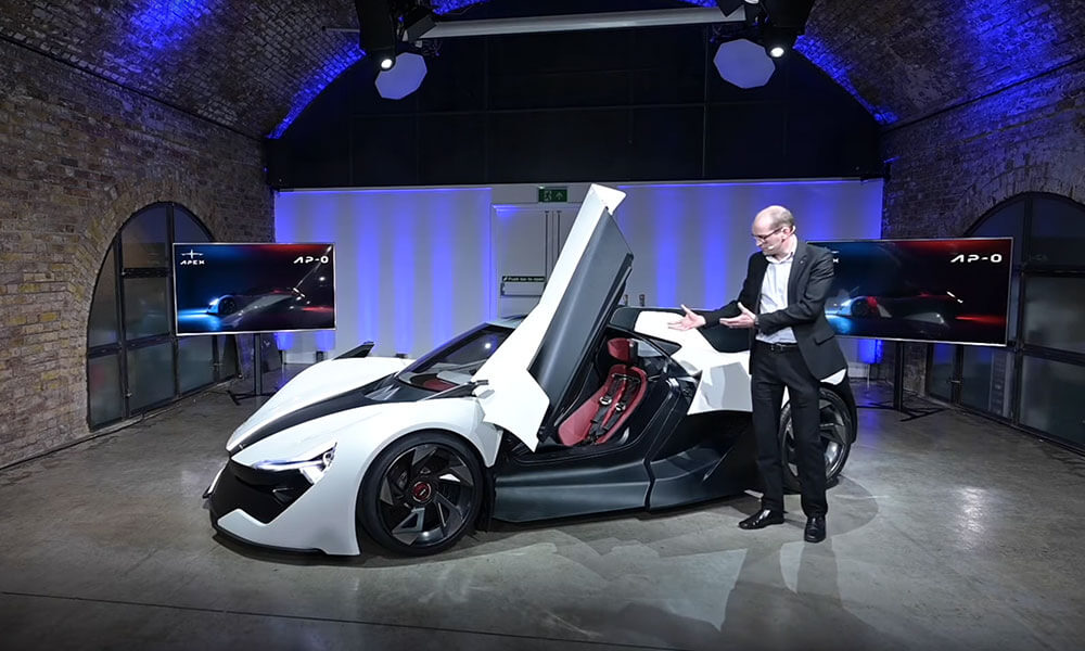Apex AP-0 EV super sports car reveal