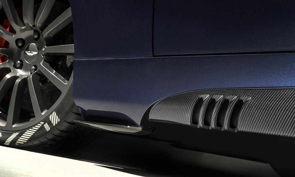 Aston Martin 25 by CALLUM carbon fibre side strakes