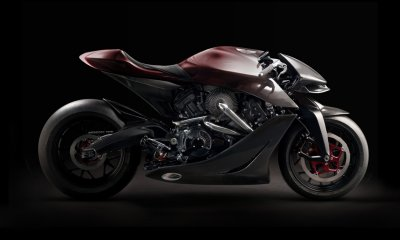 Aston Martin Borough Superior AMB 001 Motorcyle Carbon Fiber Body Featured