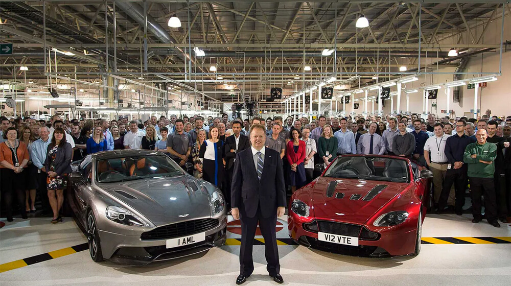 Aston Martin's departing CEO Dr Andy Palmer