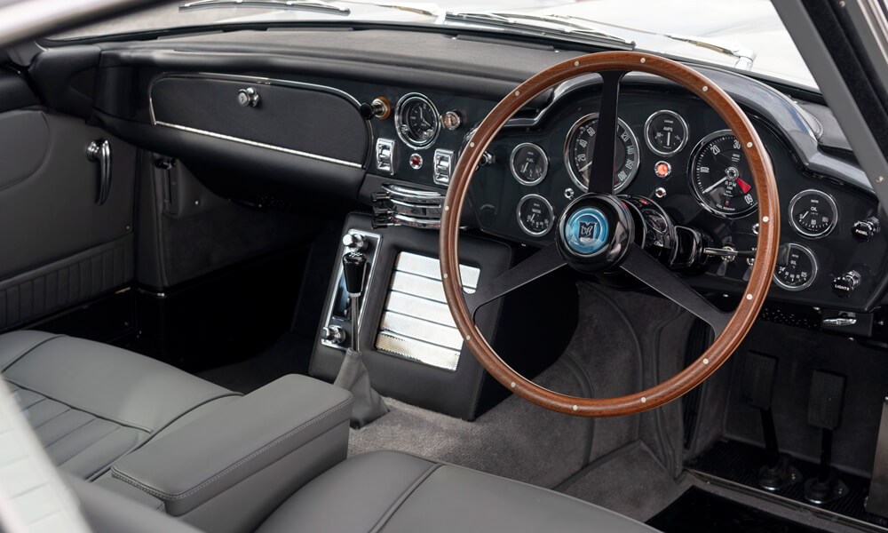 The Aston Martin DB5 Goldfinger Continuation interior. Credit: Aston Martin