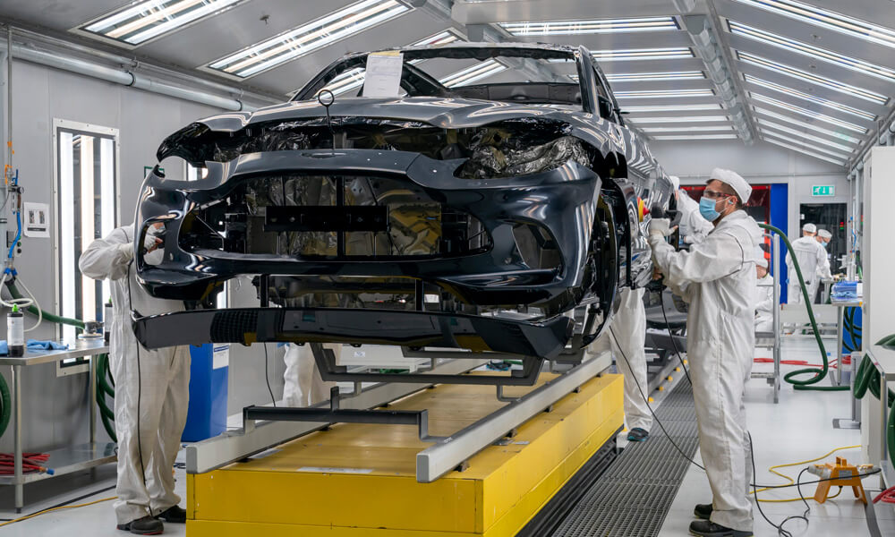 Aston Martin First Production DBX Production Line