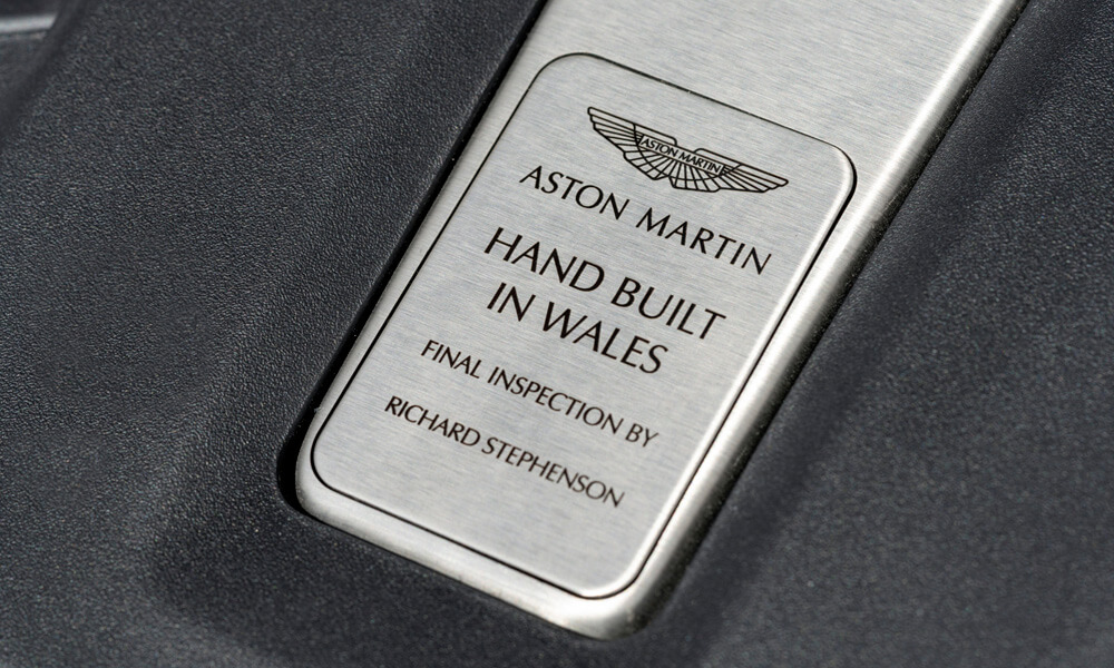 Aston Martin First Production DBX SUV Base Plate Made in Wales