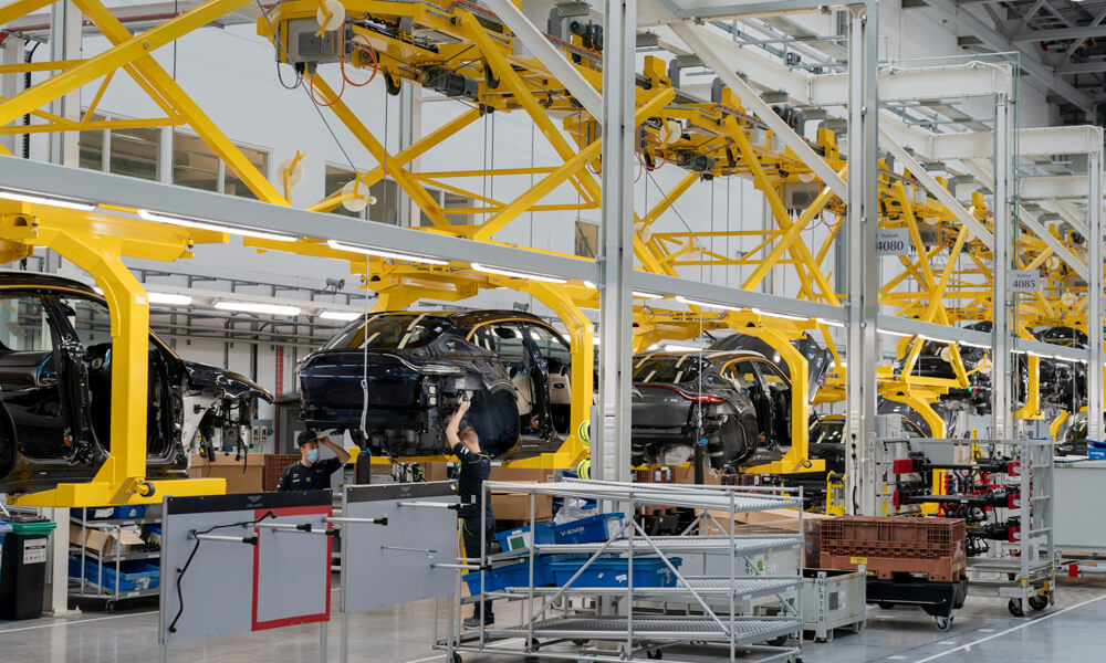 Aston Martin First Production DBX SUV Factory Floor Staff