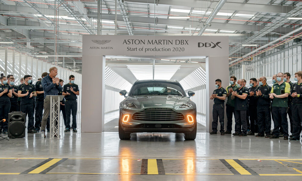 Aston Martin DBX First Production for 2020 St Athans Wales