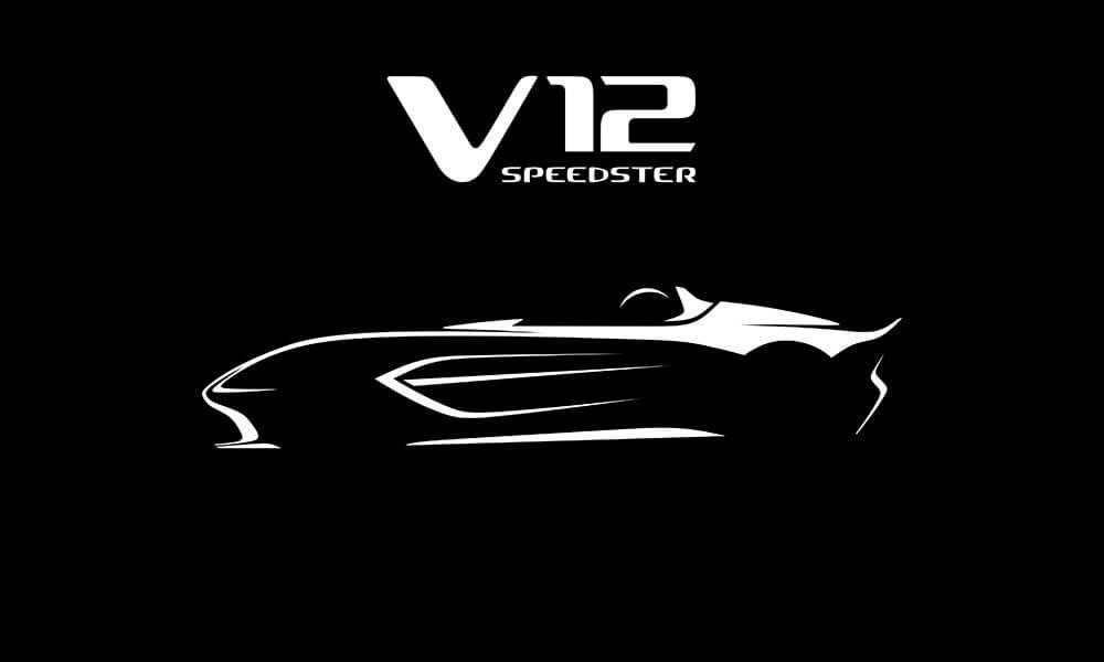 Aston Martin V12 Speedster silhouette teaser