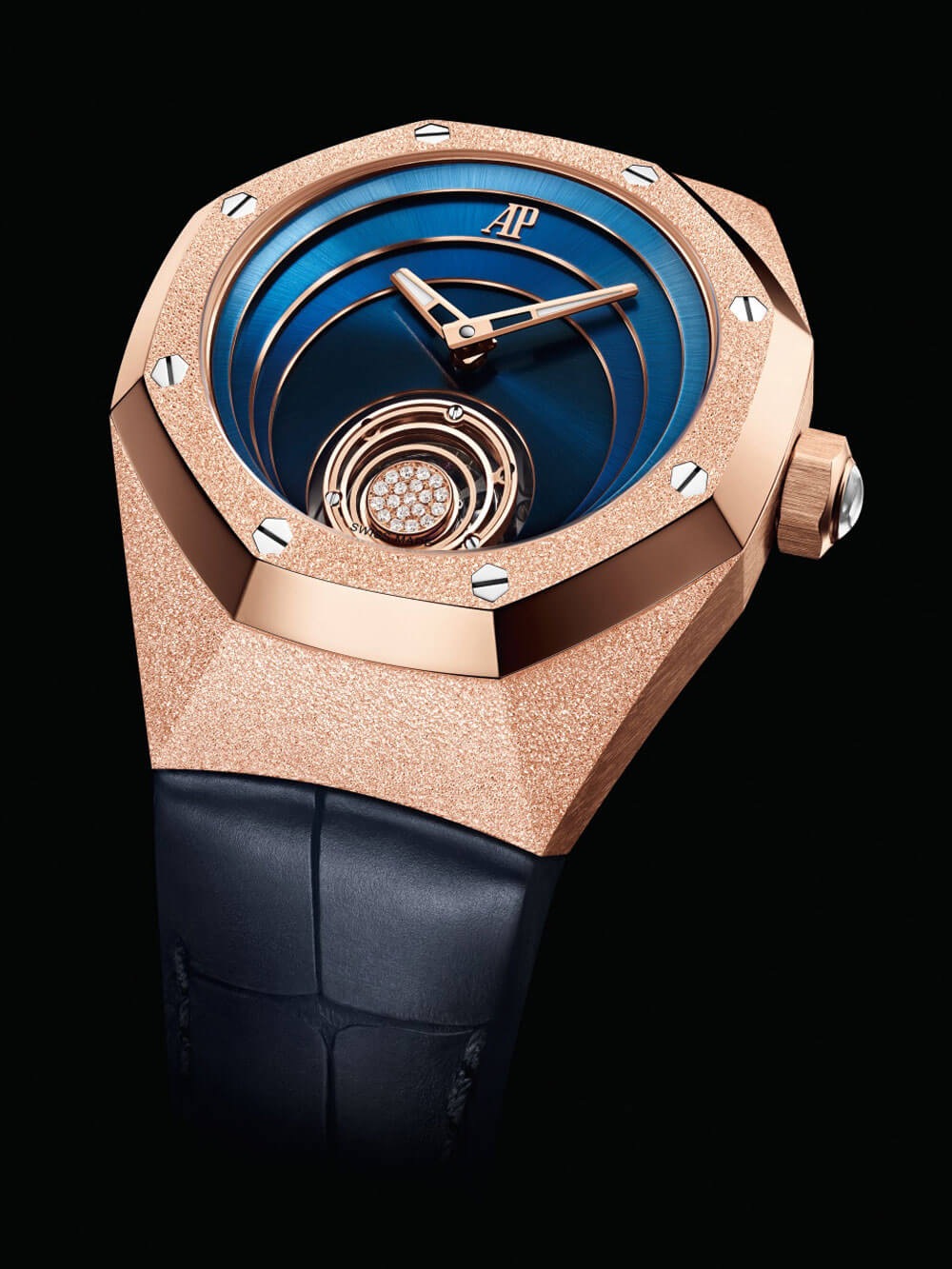 Audemars Piguet Royal Oak Concept Frosted Rose Gold Flying Tourbillon Watch Face
