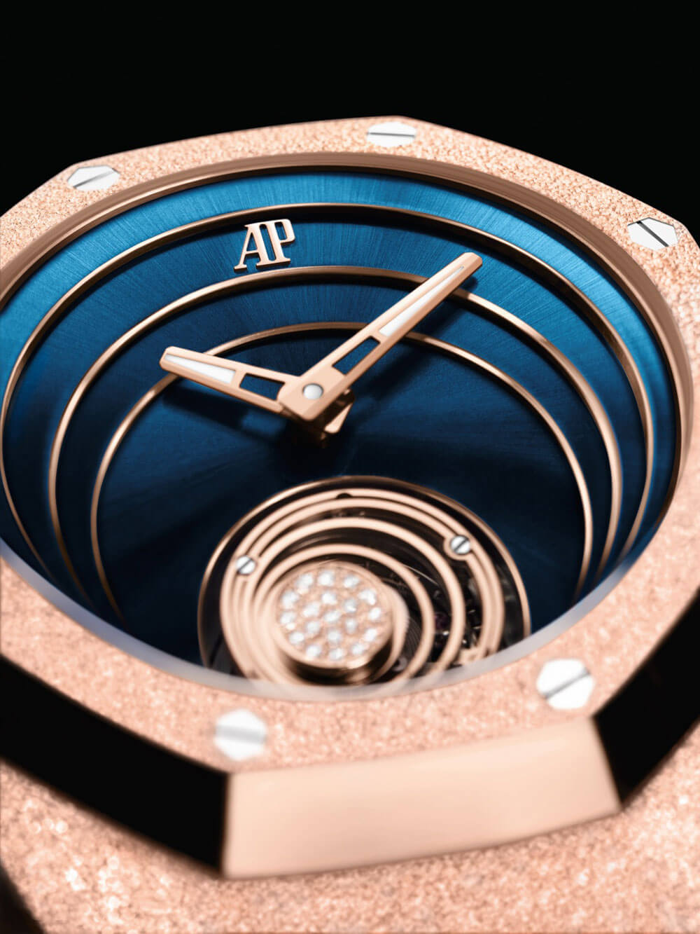 Audemars Piguet Royal Oak Concept Frosted Rose Gold Flying Tourbillon Watch Dial