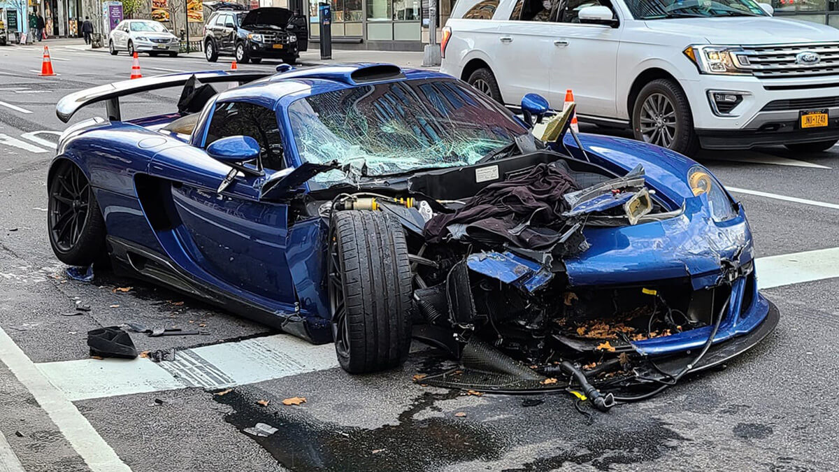 Ben Chen Gemballa Mirage GT Crashes In New York City