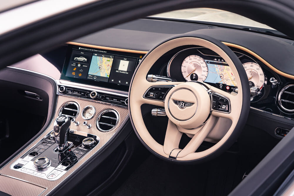 Center console with new diamond milled finish. Credit: Bentley Motors