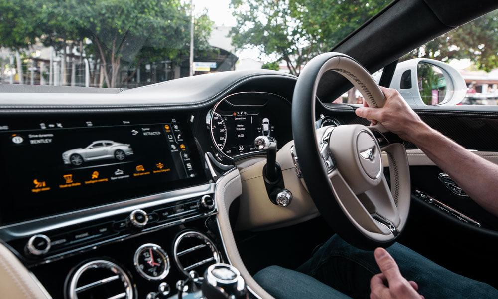 Bentley Continental GT V8 Interior Driving